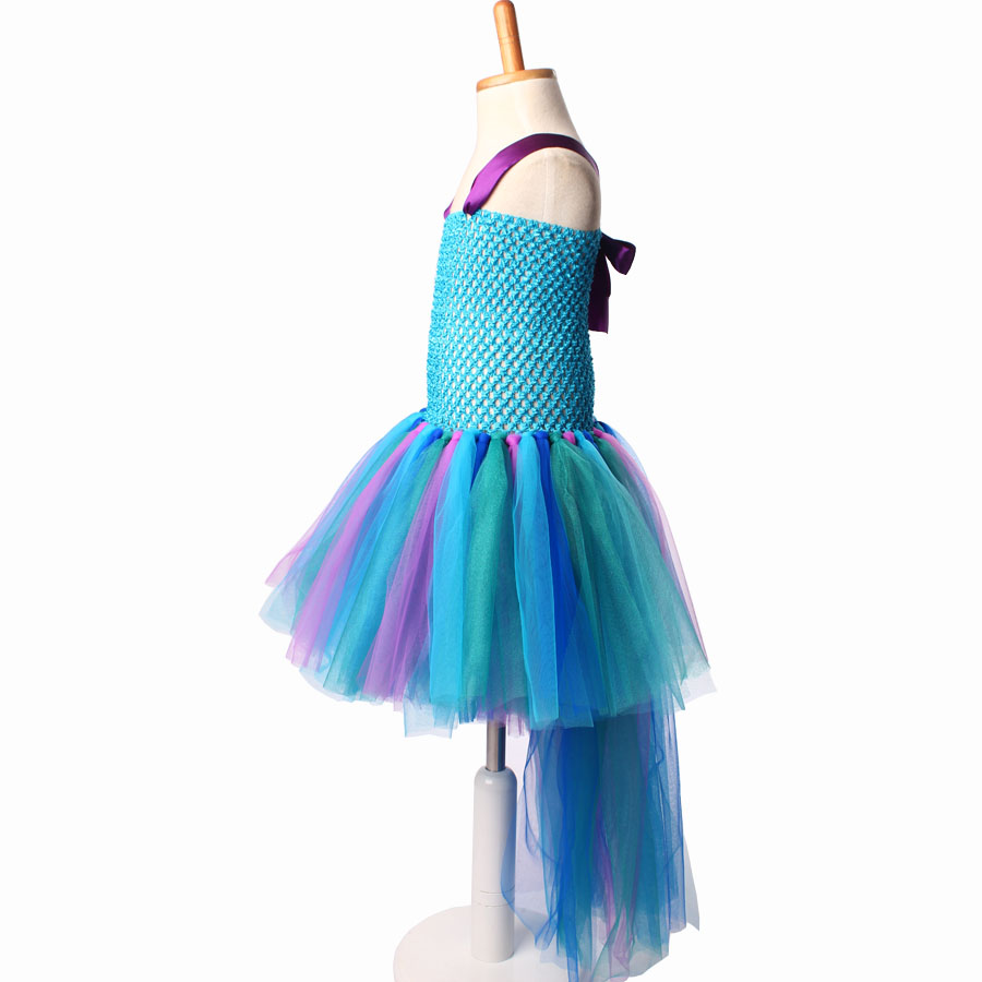 Peacock Tutu Dress For Girls Pageant Birthday Party Ball Gown Baby Girls Peacock Vestidos Children Purim Clothes Photo Props
