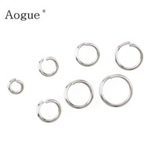 3mm-10mm Top Quality Stainless Steel Open Jump Rings Silver Color For DIY Jewelry Findings(China)