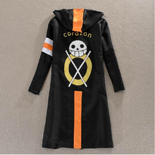 New Cartoon One Piece Cosplay Costume - Trafalgar Law 3 years later Overcoat Print Cloak with Hat for Halloween Party S - XXL