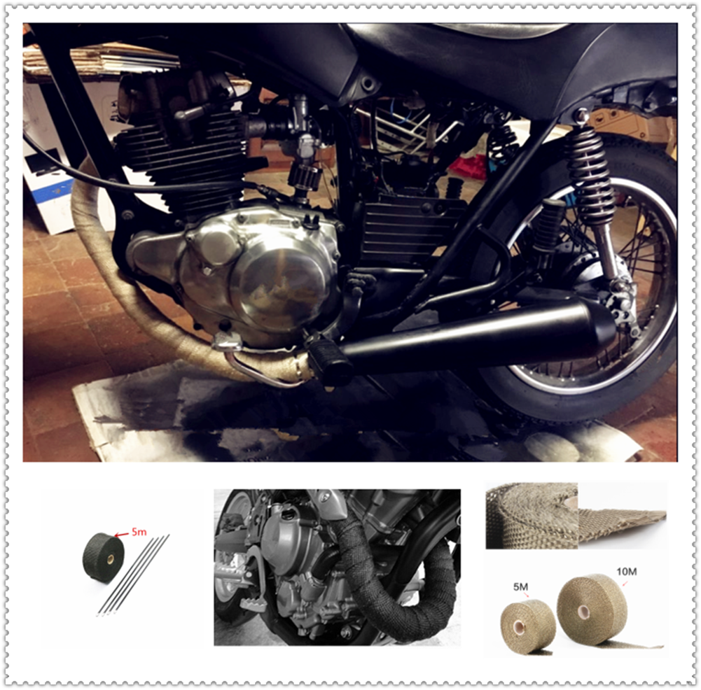 Motorcycle car parts exhaust pipe modification fire insulation cloth for Kawasaki ZX7R ZX7RR ZX9 ZZR1200 ER-5 GPZ500S EX500R