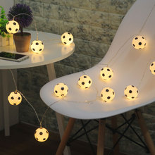 20Led Fairy Soccer Fan Football Bulb Battery Operated String Light 4m LED Decoration For Christmas Garland New Year gerlyanda(China)