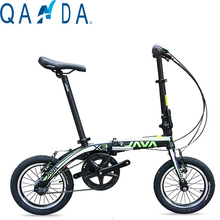 The new 14-inch aluminum alloy folding bike Ultralight JAVA X3 Double Brake bicycle
