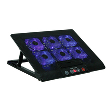 Laptop Cooler Cooling Pad Base LED 2 Stand for Macbook 11 to17 Inch Laptop Notebook Peripherals 2 USB PortsBig Six Cooling Fan(China)