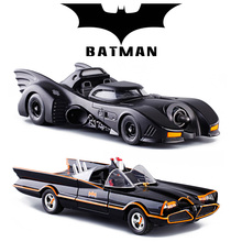 Cool 1:24 Movie Version Black Batman Die-cast alloy car model Children Racing Car Toys Large Batmobile bat Mobile Cars(China)