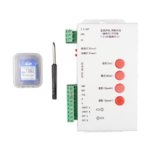 T-1000S SD Card LED Controller Pixel Led Control Pixel Controller Support DMX512 WS2801 WS2811 WS2812B LED 2048 RGB Controller(China)