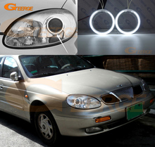 For Daewoo Leganza 1997 1998 1999 2000 2001 2002 Excellent Angel Eyes Ultra bright illumination CCFL angel eyes Halo Ring kit(China)