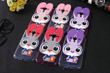 3D Judy Rabbit Cute Cartoon Lovely Cover Case For Samsung Galaxy Prime+ J2 Prime G532 SM-G532F Slim Soft Case + Lanyard   MTZ1