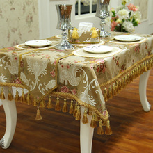 Fashion modern Home Amazing Emulation Silk Fabric Golden Jacquard Rural table runner Lace Luxury Table flag /tablecloth/Cushion(China)