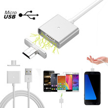 Mobile Phone Cables 2.4A Micro USB Charging Cable Magnetic Adapter Charger For Android Compatible Accessories Wholesale #7010