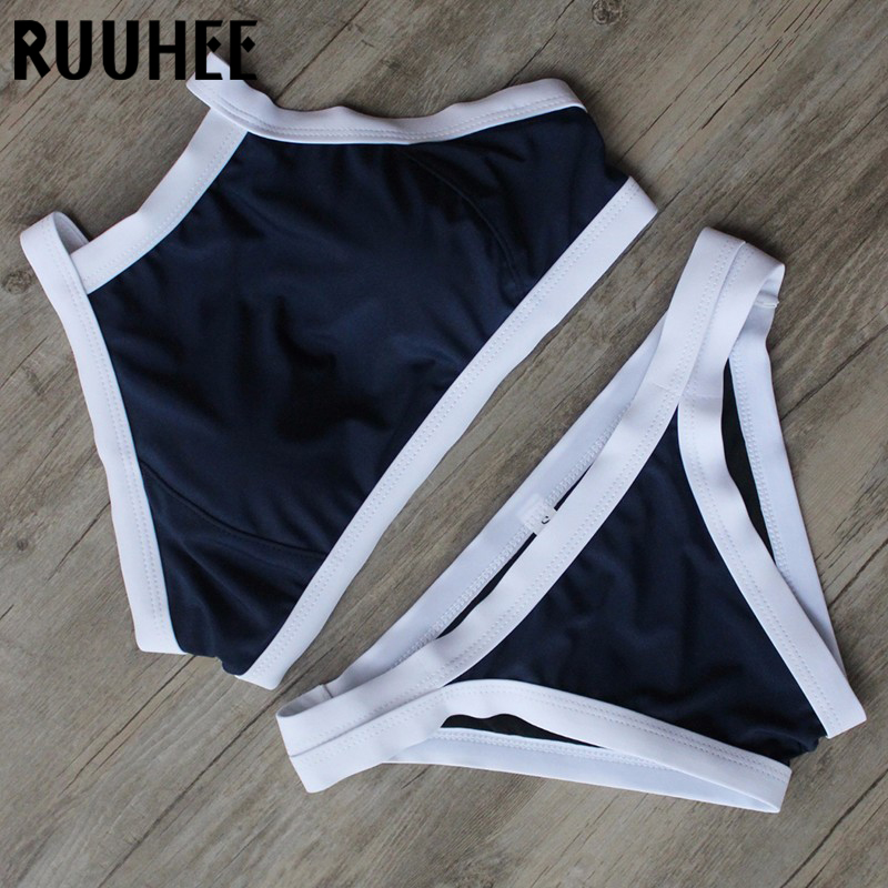 Push Up Solid Bikinis Set 2017 New Design With High Quality Padded Summer Beach Wear Bralizian Woman Swimsuit  maillot de bain<br><br>Aliexpress