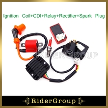 Chinese ATV Ignition Coil 6 Pins AC CDI Box D8TC Spark Plug Solenoid Relay Regulator Rectifier For 150cc 200cc 250cc Engine Quad