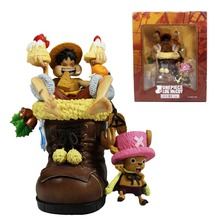One Piece Anime Log Mccoy Luffy Chopper Cate Figure Gift Brown Ver Free Shipping(China)
