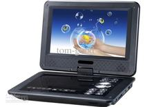 "free shipping 9.8"" Portable EVD DVD Player TV USB SD Games JPG Picture Radio Swivel LCD Screen"
