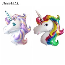 Hoomall 1PC Wedding Foil Balloons Birthday Party Decorations Kids Unicorn Party Inflatable Helium Balloon Baby Shower Christmas(China)