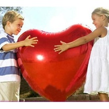 "12"" 24"" 36"" Red Heart Shaped Foil Balloons Wedding Party Decoration Marriage Balloons Event & Party Supplies Balony Globos(China)"