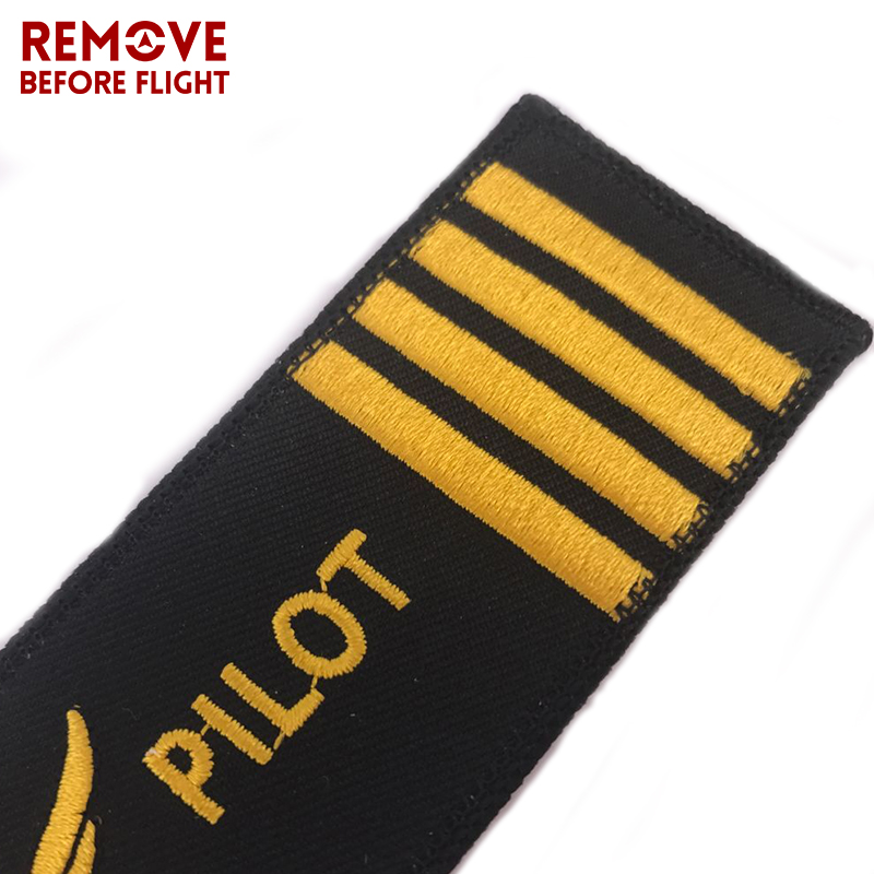 Pilot Key Chain for Motorcycles and Cars OEM Key Chains Embroidery Key Fobs Fashion Jewelry Aviation Gifts Fashionable Keychain  (3)