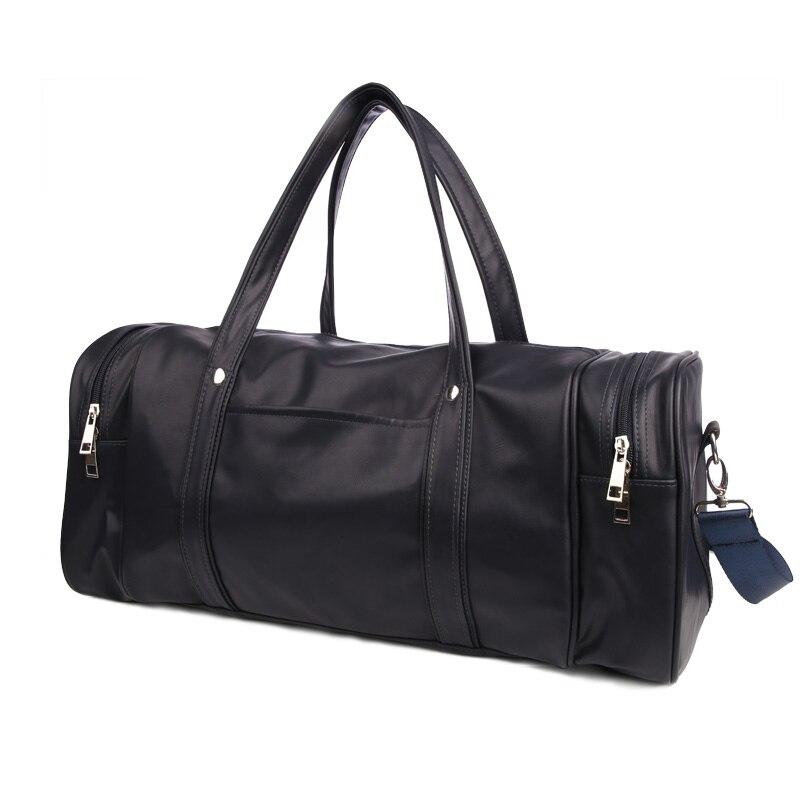 9c1e07ebf681 2019 Men S PU Leather Gym Bags Travel Sports Bag Fitness Men Women ...