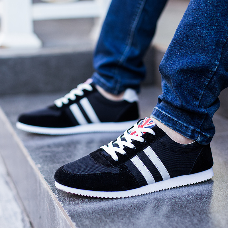 Men Canvas Shoes 2017 Spring/Autumn Hot Sale Mens Fashion Splicing Lace-up Casual Male Breathable Flat Shoes Size 39-44<br><br>Aliexpress