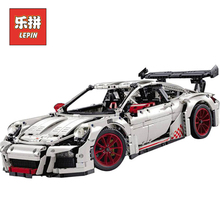 Lepin Technic Series 20001B New Classic 911 DIY Race Car Set Model Building Kits Blocks Bricks Children Toys Christmas Gift