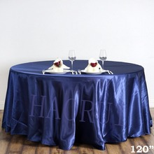 10pcs Customized 120''Navy Blue Round Dining Table Cloth Satin Tablecloth for Wedding Party Decoration Restaurant Free Shipping