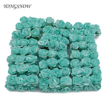 144pcs/lot 3cm Mini Artificial Paper Rose Flower Bouquet Wedding Party Decororation DIY Scrapbooking Flower Ball Supplies
