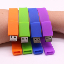 Hot Sales Silicone Bracelet Wrist Band 32GB 16GB 8GB 4GB USB 2.0 USB Flash Drive Pen Drive Stick U Disk Pendrives