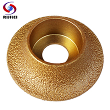 RIJILEI 74mm*20*10-25 Brazing Diamonds Marble Sanding Discs Angle Grinder Grinding wheel 1/4 Round Hand Profile wheel MX48(China)