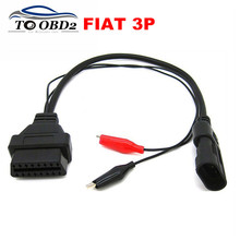 Quality A+ For Fiat 3Pin Alfa Lancia to 16Pin Diagnostic Cable Connector DLC Fit Fiat 3 Pin to 16 Pin OBD2 Female FREE SHIPPING(China)
