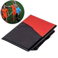 Mayitr Professional Soccer Referee Supplies Football Red Card / Yellow Card Game Appliances with Holster and Pencil Notebook