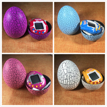 4 Colors Dinosaur egg Tumbler Virtual Cyber Digital Pets Electronic Digital E-pet Retro Funny Handheld Game Machine Figure Toy