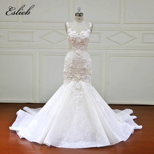 Buy Eslieb Custom made Mermaid Wedding Dresses Appliques Button back Bridal Gowns Vestido De Novias Wedding Dress XF17058 for $477.95 in AliExpress store
