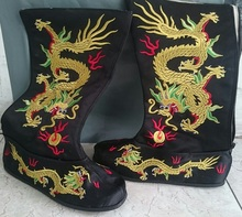 ZZB060 Opera Boots film and television drama supplies boots dragon Beijing opera stage Embroidery boots(China)