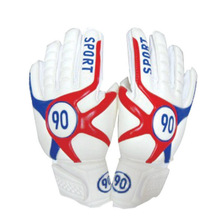 2017 Red Blue Black Football Ball Soccer Goalkeeper Gloves Size 9 full latex Football Gloves Adult training game
