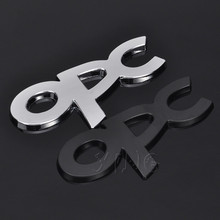 Metal Car Sticker Auto Badge Emblem Decal For Opel OPC Logo Astra h g j k f Zafira a