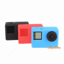 Dustproof Soft Silicone Rubber Protective Case Skin w/ Back Cover for GoPro Hero 3/3+/4 Camera