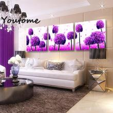purple paintings Art  Modern Wall Painting purple pink flower wall painting for living room, Purple picture,Modular Pictures