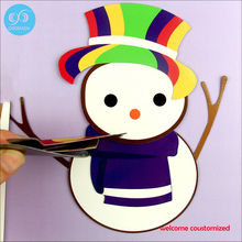 Factory  manufacturers wholesale custom   / children's toys magnetic puzzle  / high quality magnetic snowman puzzle
