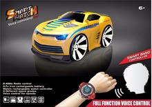 2017 New Voice Activated Remote Control RC Car with smart watch car toy voice control car toy with LED head light vs 48400 48500