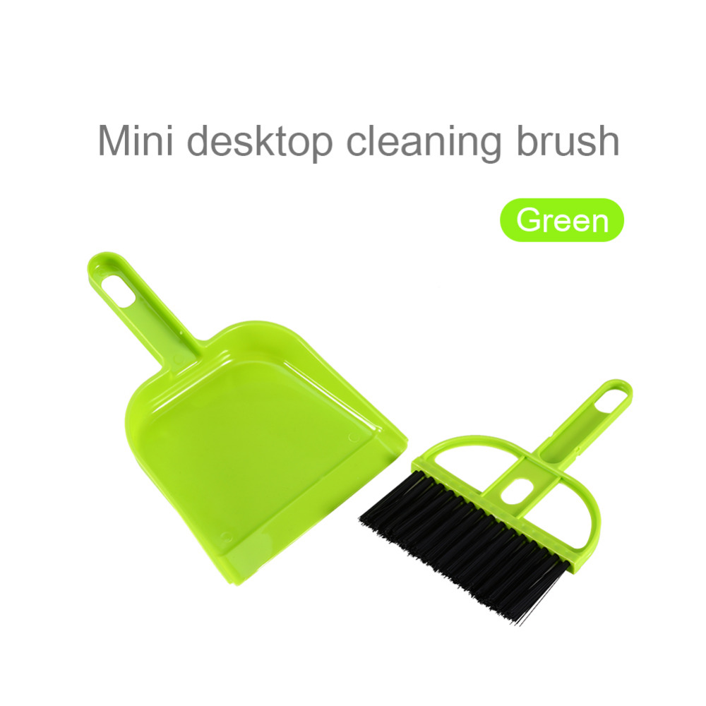 High Quality Mini Plastic Hand Kitchen Dustpan And Brush Set Soft Cleaning Sweeper Dust Pan(China)