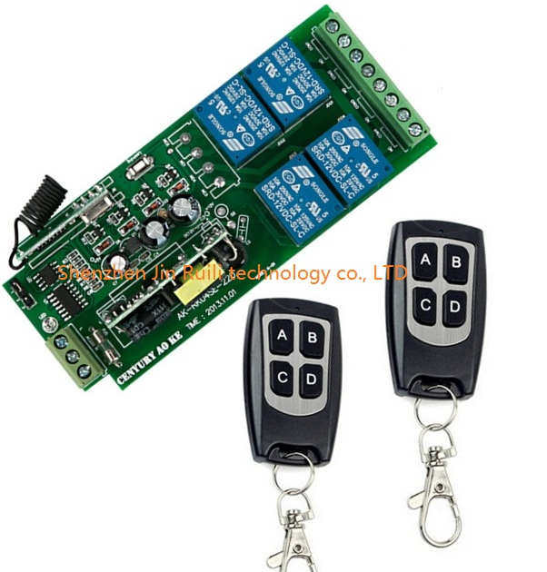 Free Shipping AC85V 250V 110V 180V 220V 230V 240V 4CH RF Wireless Remote Control Relay Switch Security System 315/433MHZ<br><br>Aliexpress
