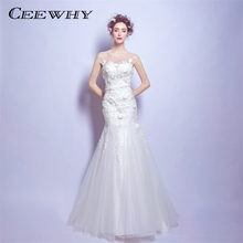 Buy CEEWHY Sexy Backless Mermaid Wedding Dresses 2018 White Bridal Dress Wedding Gowns Vestido De Noiva Appliques Robe de Mariee for $84.00 in AliExpress store