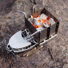 Foldable Wood-burning Stove Multifunctional Outdoor Camping Picnic Portable Firewood Furnace Barbecue BBQ Grill Camping Stove