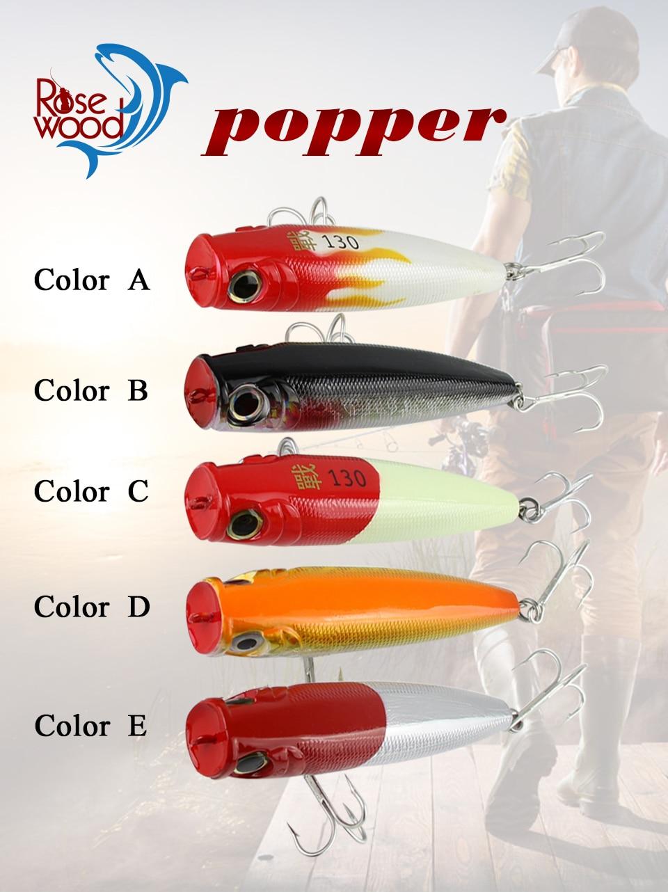1Pcs 43g//13cm 6 Colors Popper Fishing Lure Top Water Crankbait V0L3