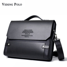 VIDENG POLO 2017 Brand Men leather Handbag Messenger Bags Fashion Crossbody Shoulder Bags Casual briefcases Male travel bags(China)