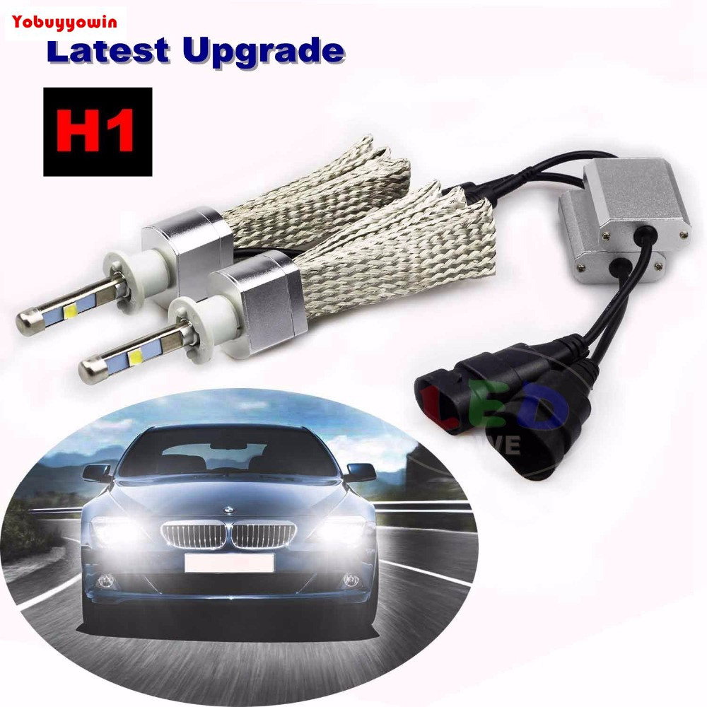 Pair H1 P14.5S Car 80W 9,600LM 6000K Super Slim All-in-One CREE XHP-50 Chips LED Headlight Conversion Kit (from HID or Halogen)<br>