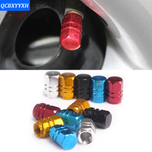 Car Styling 4pcs/pack Theftproof Aluminum Car Wheel Tires Valves Tyre Stem Air Caps Airtight Cover Hot Selling For Universal Car(China)