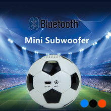 PU Leather Football  portable wireless Bluetooth mini subwoofer home theater audio speaker 600mAh battery hands calling