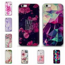 Newest Fashion Colorful Luxury 3D Flower Pattern Case for Apple iPhone 5 5S Cases Cell Phone Soft TPU Back Cover for iphone SE