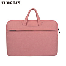 TUGUAN Waterproof Portable Laptop Bag Men/Women Business Briefcases Notebook Bag 14/15 Inches Computer Case Polyester