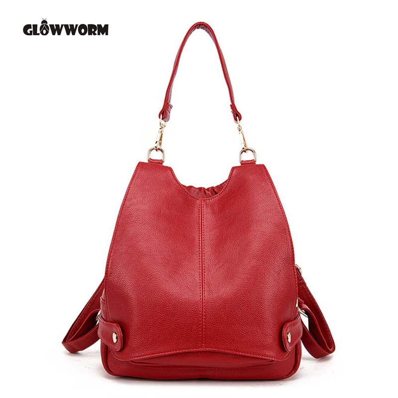 Fashion Leather Backpack Women Bags Preppy Style Backpack Girls School Bags Zipper Kanken Leather Backpack gw090<br>